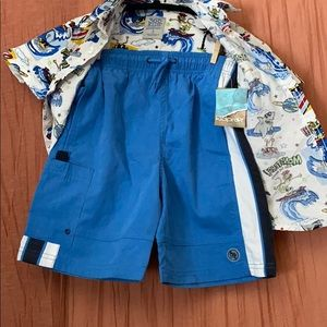 healthtex Matching Sets - Cool collar shirt/ shorts boy set! Cool Kid!